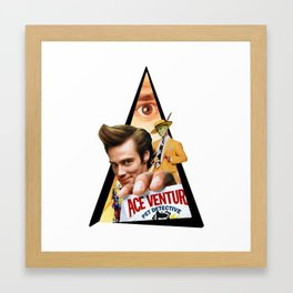 Youtriangle ∆ Jim Carrey Framed Art Print