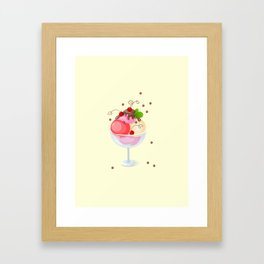 berry ice cream Framed Art Print