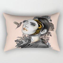 Behind the mask Rectangular Pillow