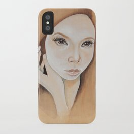Self Portrait on Wood iPhone Case
