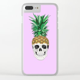PINESKULL PINK Clear iPhone Case