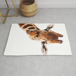 Giraffe Portrait // Wild Animal Cute Zoo Safari Madagascar Wildlife Nursery Decor Ideas Rug