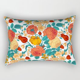 Vintage flower garden Rectangular Pillow