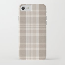 Checkered, Plaid Prints, Warm Brown iPhone Case