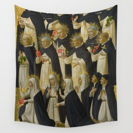 """Fra Angelico (Guido di Pietro) """"Fiesole Altarpiece - The Dominican Blessed"""" 1 Wall Tapestry"""
