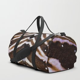 whit and brown pattern Duffle Bag