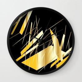golden treasure abstract geometrical art Wall Clock