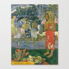 Hail Mary by Paul Gauguin, 1891 Canvas Print