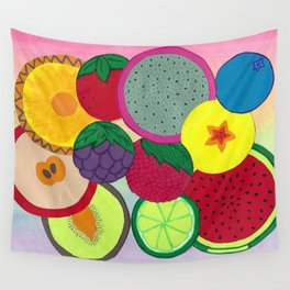 Fruity Circular Slices Wall Tapestry
