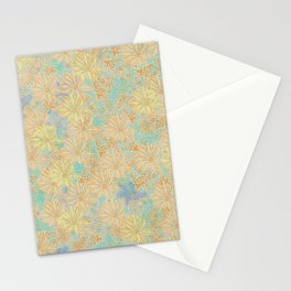 Antique Floral Good Old Days (plain) Stationery Cards