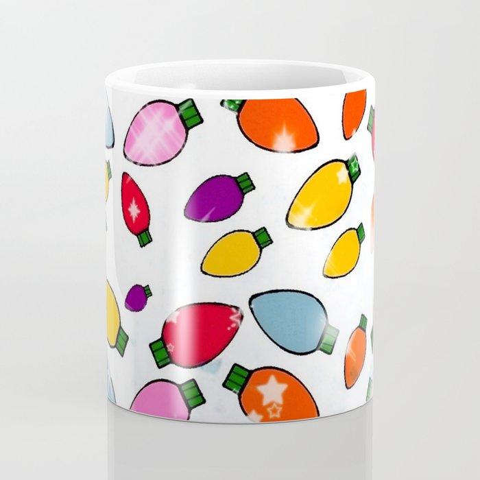 Christmas Bulb Popart by Nico Bielow Coffee Mug