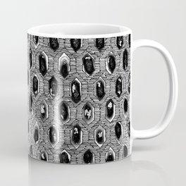 Watercolour Blackwork: 'Lozenge' Burnt Liquorice I (light) Coffee Mug