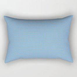 Mini Biscayne Bay Blue Gingham Check Square Pattern Rectangular Pillow