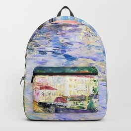Berthe Morisot - The Port of Nice - Digital Remastered Edition Backpack