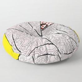 Roy Lichtenstein Meets the Arabic Woman Floor Pillow