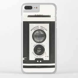 Brownie Reflex Camera Photography, Old Vintage Camera Clear iPhone Case