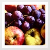 fruits Art Prints featuring FRUITS by MehrFarbeimLeben