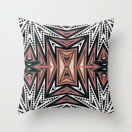 Abstract Aztec Throw Pillow
