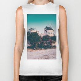 Greek Houses in Santorini Biker Tank