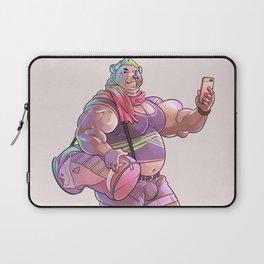 Bara Bear Purple Laptop Sleeve