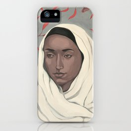 Girl with gum leaves iPhone Case