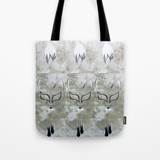 Silver Fox Tote Bag