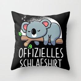 Official Koala Sleep Shirt Throw Pillow