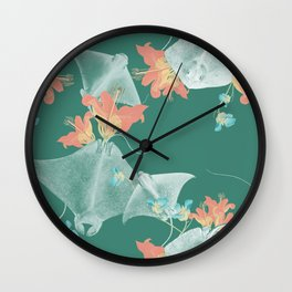 Lilies that sting Wall Clock