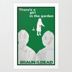 Shaun of the Dead - Girl in the Garden Art Print