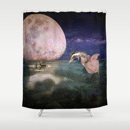 Moonlit Bath Shower Curtain