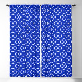 Blue and white Blackout Curtain
