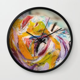 Crackled Wall Clock