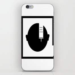 Clear your mind iPhone Skin