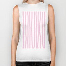 Pink Stripes Biker Tank