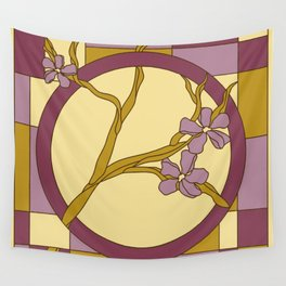 Lilac modern art nouveau flowers Wall Tapestry
