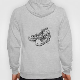 Old Allstar shoes black and white sketch Hoody