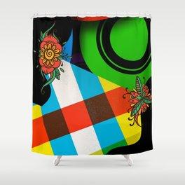 CrazyCollage Shower Curtain