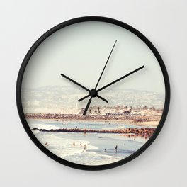 Meet Up At The Water San Diego Wall Clock
