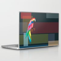 parrot Laptop & iPad Skins featuring parrot by mark ashkenazi