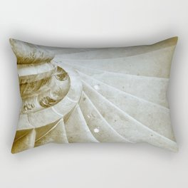 Sand stone spiral staircase 17 Rectangular Pillow