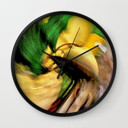 Abstract Genie In A Bottle Wall Clock