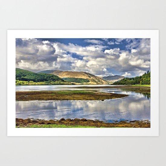 Loch Sunart from Strontian Art Print