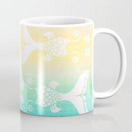 Mermaid Tails Pattern Silhouette / Watercolor Gradients Coffee Mug