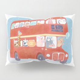 Party Bus Pillow Sham