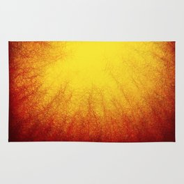 Linear Radial Sunset Rug