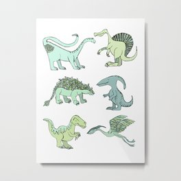 Happy dinosaur Metal Print