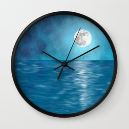 Mar Luna + Donation for Marine Conservation Wall Clock