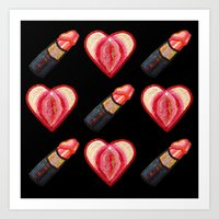 Love and Lipstick Art Print