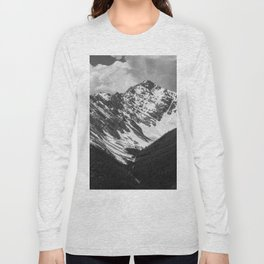 Black and White Canadian Rockies Long Sleeve T-shirt