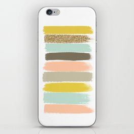 Madison - Brushstroke art print in modern colors bright and happy gifts for trendy girls iPhone Skin